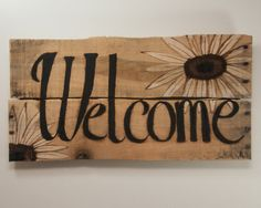 March finds Welcome Sign Rustic Welcome Sign by SimplyPallets