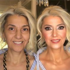 Glam Makeup Look, Bridal Makeup Looks, Natural Wedding Makeup, Mother Of Bride Makeup, Mother Of The Bride Looks, Makeup For Older Women, Older Bride, Make Up Braut, Evening Makeup