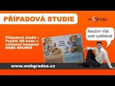 Použití QR kódu v tiskové reklamě BeBe Brumík