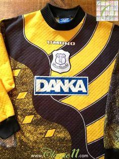 Official Umbro Everton home football shirt from the 1995/1996 season.