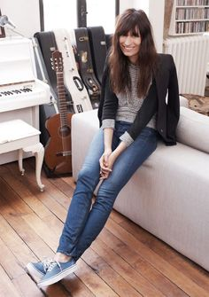 Caroline de Maigret , french, amazing style, so simple, so elegant; messy...