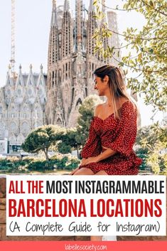 If you're going to Barcelona you probably know that the city if full with instagrammable places. From stunning Gaudi architecture to the interesting aesthetic of the gothic quarter. Click and get inspiration for your INstagram feed with these Barclona-based bloggers' beautiful pictures (including myself. of course). #barcelonainstagram #photography #outfits #instagram Instagram Worthy, Instagram Tips, Instagram Feed, Beautiful Places To Visit, Cool Places To Visit, Barcelona Travel Guide, How To Pose, Barcelona Spain, Spain Travel