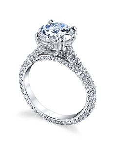 Michael B. florence exotique ring with round center in platinum I Style: Florence Collection I https://www.theknot.com/fashion/florence-exotique-michael-b-engagement-ring?utm_source=pinterest.com&utm_medium=social&utm_content=june2016&utm_campaign=beauty-fashion&utm_simplereach=?sr_share=pinterest