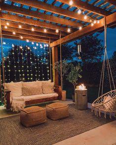 Balkon Design, Backyard Patio Designs, Pergola Designs, My Patio Design, Roof Terrace Design, Terrace Decor, Rooftop Design, Small Balcony Decor, Small Backyard Design