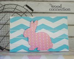 The Wood Connection - Bunny Overlay For Slat Sign, $2.95 (http://thewoodconnection.com/bunny-overlay-for-slat-sign/)