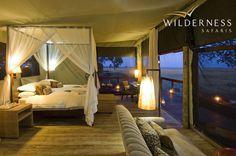 Shumba Camp comprises six spacious luxury safari tents on raised platforms with…