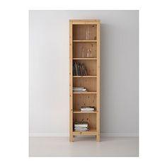 "HEMNES Bookcase, light brown - 19 1/4x77 1/2 "" - IKEA"