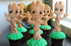 Stop What You're Doing and Make These Baby Groot Cupcakes — Pinterest