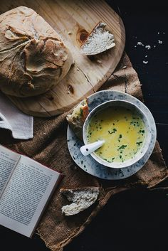 squash soup & bread
