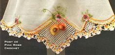Barra Frutinhas com Pêssegos em Crochê e outros barradinhos. crochet edgings @Af's 19/3/13