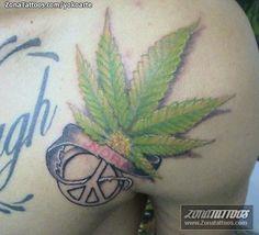Foto tatuaje Símbolos, Paz, Hojas