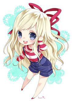 blonde chibi | Tumblr
