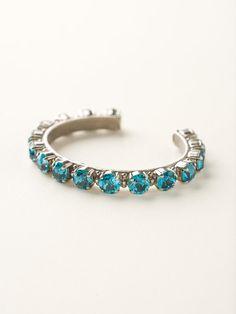 Riveting Romance Cuff Bracelet - Sorrelli Essentials in Blue Topaz - Sorrelli