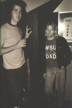 Kurt Cobain in a tri delta shirt. not a tri delt but cant say i dont love this