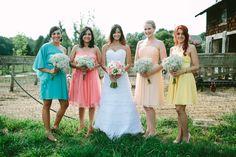 babys breath bouquets for bridesmaides...love it!