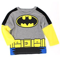Batman Boys Long Sleeve Tee (2T, Grey/Yellow Batman Costu... https://www.amazon.com/dp/B01608LSL0/ref=cm_sw_r_pi_dp_SU5Hxb6NJ9PG2