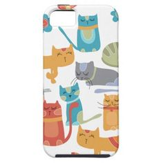 Cat Lovers Merchandise   Colorful Kitty Cats Print Gifts for Cat Lovers iPhone 5 Case SOLD on ...