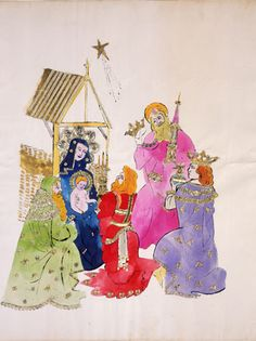 On the road to fame Andy Warhol drew 100s of illustrations for Christmas.