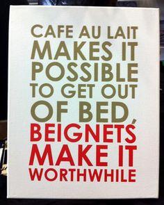 "Fleurty Girl :: ""Cafe Au Lait"" Screenprinted Canvas"