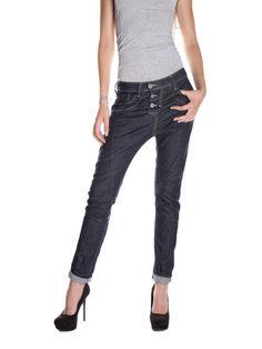 PLEASE - P78 women's baggy dark jeans фото