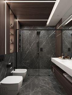 DE&DE/Loft with soft accents on Behance Washroom Design, Toilet Design, Bathroom Design Luxury, Modern Bathroom Design, Bathroom Design Inspiration, Bathroom Trends, Contemporary Interior Design, Loft, House Design