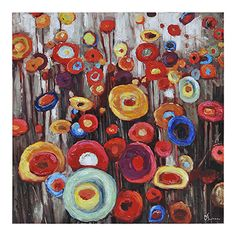 Ren-Wil Coloratura Square Canvas Wall Art by Olivia Salazar. Hand Painted Canvas, Canvas Wall Art, Canvas Prints, Art Mural Floral, Modern Wall Decals, It Goes On, Online Painting, In The Tree, Art Of Living