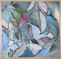 Katherine Aimone, Growth, 2010, 52 x 52 in., acrylic and graphite on paper, mounted on board