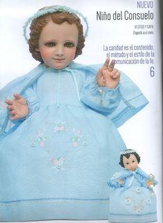 #niño #del #consuelo Jesus Clothes, Crochet Wedding Dresses, Baby Jesus, Pop Art, Religion, Dolls, Disney Princess, Children, Christmas