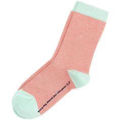 Mini Stripe Ankle Socks ($15) ❤ liked on Polyvore featuring intimates, hosiery, socks, ankle socks, tennis socks and short socks