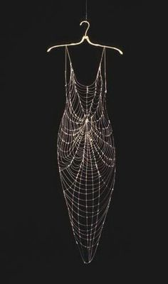 Spider Dress...Haute Goth, as far as I'm concerned. I mean: LOOK AT THE CONSTRUCTION! ♥ Unfortunately, designer/artist attribution N/A, as image is via re-pin... Regardless, THE REGALIA † This.Is.Decadenc