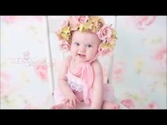 How to make a floral bonnet for photography - YouTube