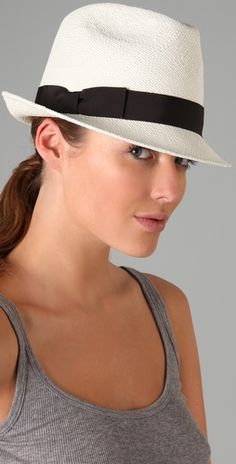 white fedoras are hott! a bow too? SOLD.
