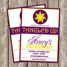 Tangled Birthday Invitation - Tangled Rapunzel Birthday Party - DIY Printable
