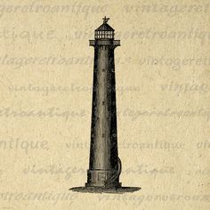 Printable Digital Lighthouse Image Download Graphic