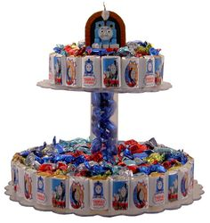 Candy Bar Cake  Thomas the Train  Ideal for by SweetAssumptions, $49.95