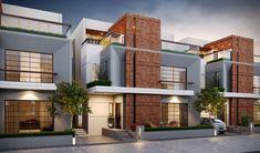 Architect Design House, House Roof Design, Duplex House Design, Facade House, Modern House Facades, Modern Exterior House Designs, Cool House Designs, Townhouse Exterior, Bungalow Exterior