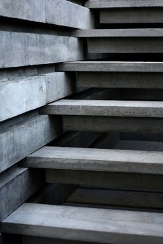 """dropanchors:  """"Concrete slatted stairway.  """""""