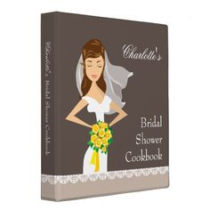 Shop Dreamy Bride Bridal Shower Cookbook Recipe Binder created by kat_parrella. Personalize it with photos & text or purchase as is! Bridal Shower Gifts For Bride, Bride Gifts, Bridal Showers, Brunette Bride, Wedding Planner Binder, Wedding Planners, Bridesmaid Gifts Unique, Wedding Photo Albums, Binder Design