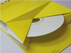 Popup CD packaging printable template.