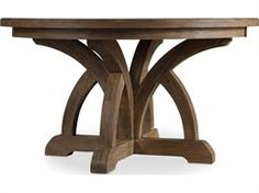 Hooker Furniture Corsica Light Wood 54'' Wide Round Dining Table