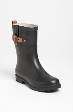 Chooka 'Top Solid Mid Height' Rain Boot (Women) available at #Nordstrom-sooo much more comfortable than Hunters.