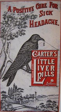 Vintage ad for Carter's Little Liver Pills.  Kinda looks like Halloween and Spooky