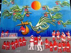 AECIO TEMA HOMENAGEM AO CIRURGIAO DR. HELIO COM AJUR SP PARA DIVULGAÇAO (Painting), 60x80 cm por Arte Naif AJUR SP VENDEDOR E DIVULGADOR DA ARTE NAIF BRASILEIRA