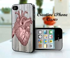 Heart Anatomy iPhone 4/4S Case  iPhone 4/4S by CreativeIphonecases, $15.99 #creativeiphonecases #iphone4 #iphone5 #anatomy #heart