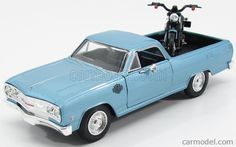 MAISTO 32195 Skala: 1/24  CHEVROLET EL CAMINO PICK-UP 1965 + MOTORCYCLE HARLEY…