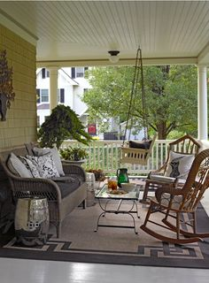 Great looking porch