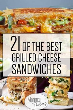 21 Gourmet Grilled Cheese Recipes - Mommy Thrives Gourmet Grilled Cheese Sandwich - Lunch Ideas That Are Delicious - Grilled Cheese Recipes - 21 of the Best Grilled Cheese Sandwiches Grill Sandwich, Grill Cheese Sandwich Recipes, Gourmet Sandwiches, Grilled Cheese Recipes, Steak Sandwiches, Grilled Cheeses, Burger Recipes, Best Grilled Sandwich Recipe, Sandwich Melts