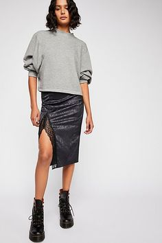 The Endless Summer Fp Beach Uptown Pullover Free People Store, Sweater Jacket, Mock Neck, Women Lingerie, Heather Grey, Leather Skirt, Sequin Skirt, Cool Outfits, Dressing