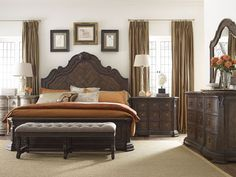 Shop for Thomasville Corina Panel Bed (Queen), and other Bedroom Panel/Wall Beds at West Coast Living in Orange County and South Bay, CA. At Home Furniture Store, New Furniture, Bedroom Furniture, Queen Bedroom, Bedroom Sets, Bedrooms, Thomasville Furniture, Master Bedroom Interior, Panel Bed