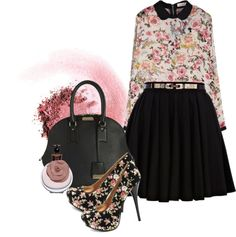 """""""Floral Blouse"""" by weeyz ❤ liked on Polyvore"""